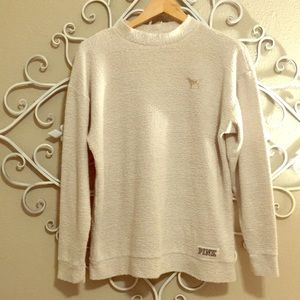 PINK Terrycloth Pullover (xs)